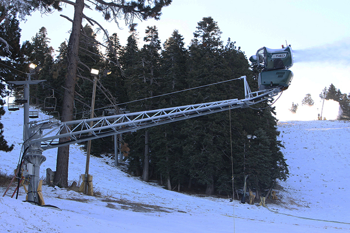 Putting new snow down on Lower Chisolm.