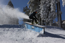 Snowmaking is on, but it isn't stopping us from jibbing.