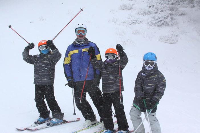 Ski School was having a blast in the storm