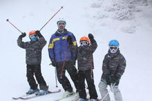 Ski School was having a blast in the storm