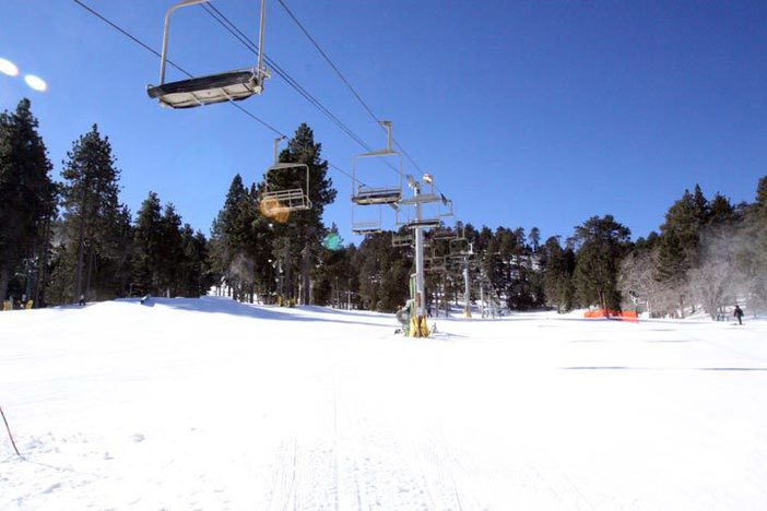Plenty of beginner terrain open for lessons and first timers.