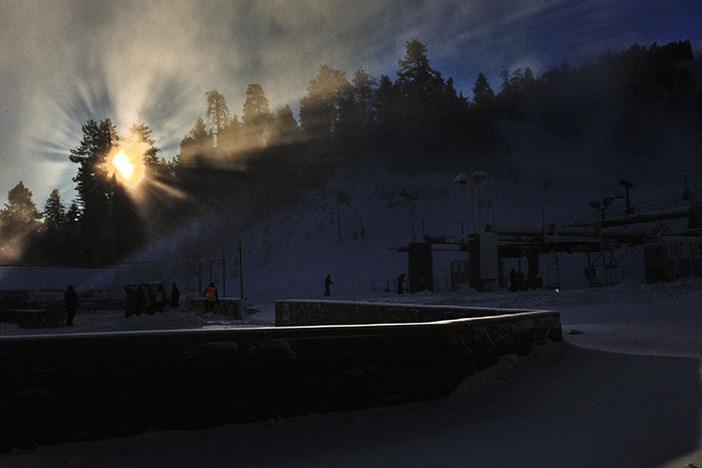 Another beautiful sunrise at Southern California's closest winter resort