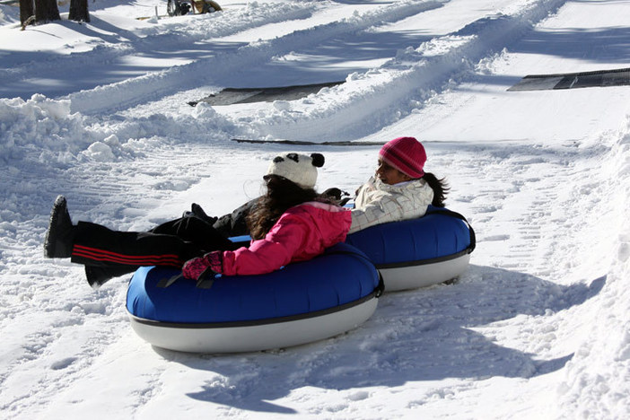 Spread some cheer at the North Pole Tubing Park, open Saturday and Sunday from 9am to 4:30pm.