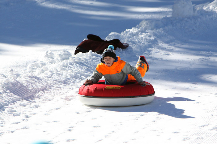 Bring the little ones up for some tubing fun