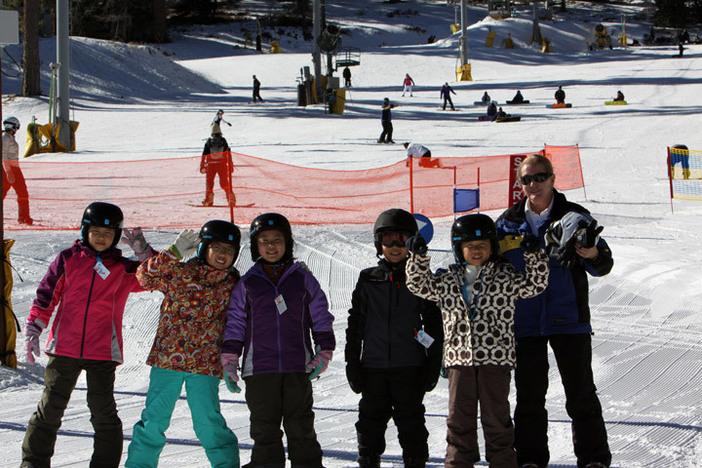 Ski school friends had a blast