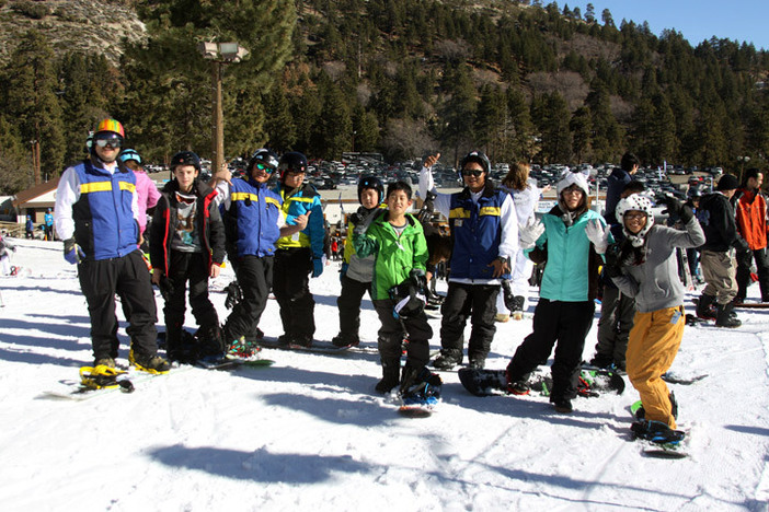 Perfect day to learn how to ski or snowboard.