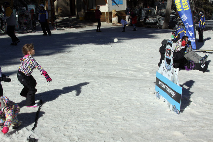 The Yeti snowball toss was fun for the whole family.