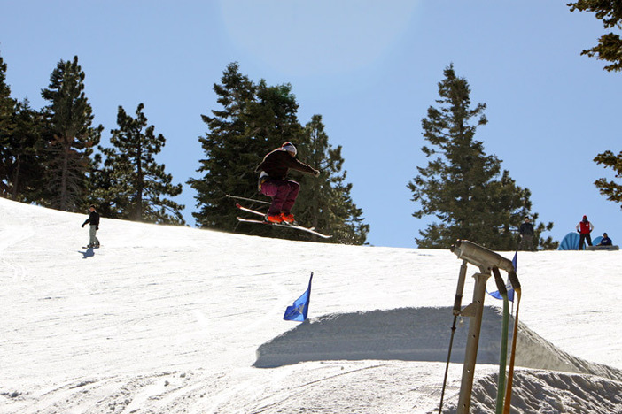Sending it on the jumps on Chisolm.