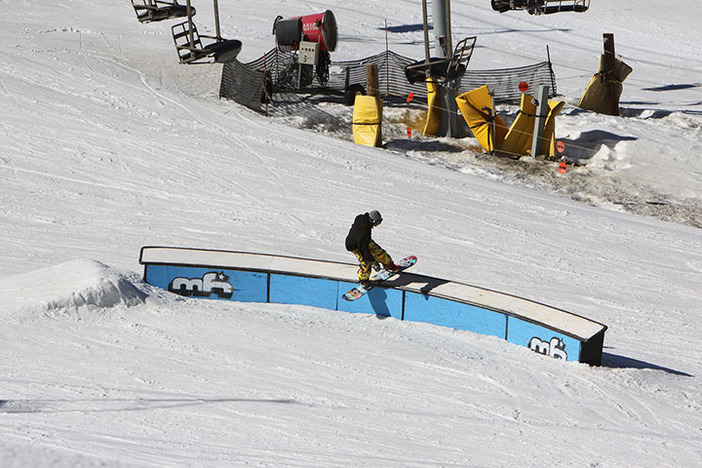 A big board slide through the C Box