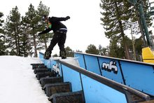 Zach Foster front board on the stair set.