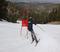Team Mountain High speeds through the slalom course.