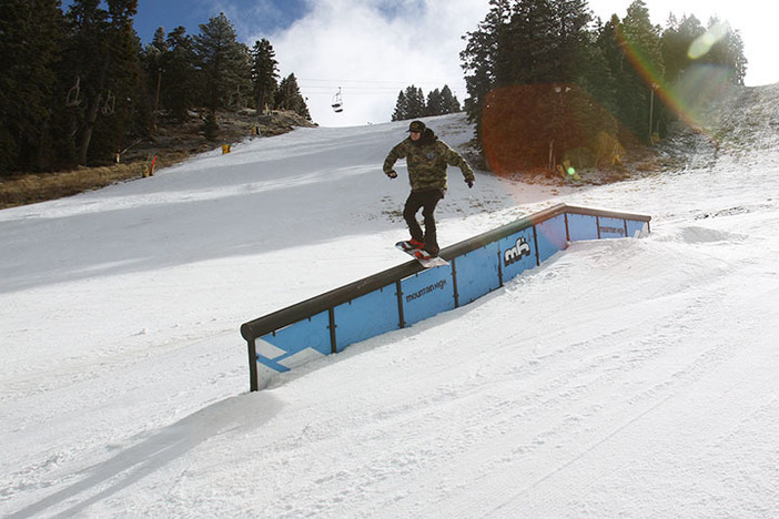 Sliding the Flat Down rail on Lower Chisolm.