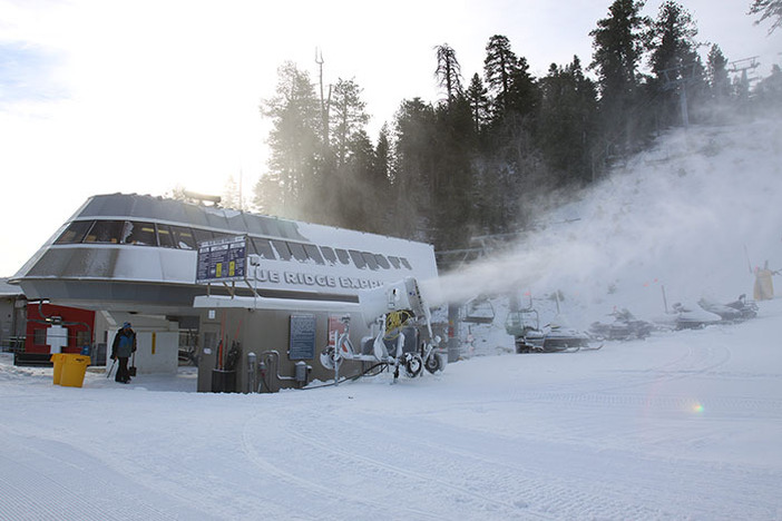Recent snowmaking has laid down more coverage and new snow.