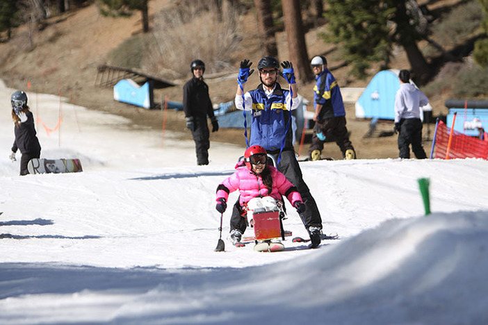 Ski school has instructors trained in Adaptive lessons too!