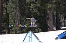 Trevor grabbing melon off the Rainbow Rail.
