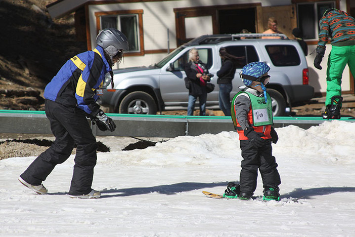 The warm weather and soft snow make it a perfect time to learn.