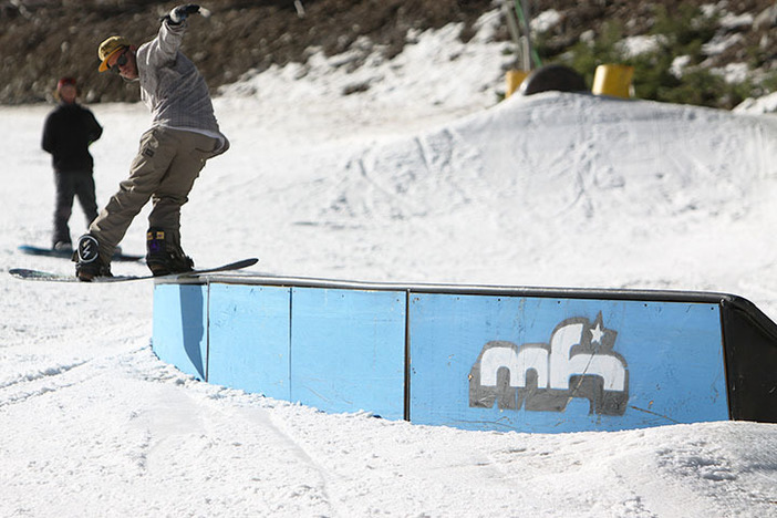 Trever riding rail on the C-Box.