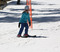 The soft spring snow and warm temps make skiing fun for all ages.