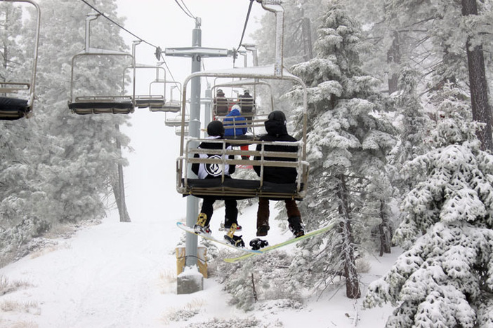 "the storm dropped 6-8"" of heavy powder on the resort over the weekend."