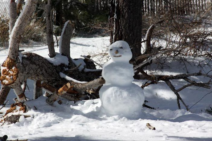 Get greeted by a snowman just off Upper Chisolm.
