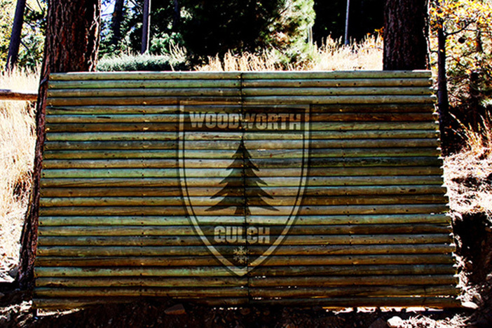 New wallride in Woodworth Gulch.