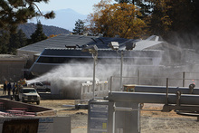 Snowmaking tests underway.