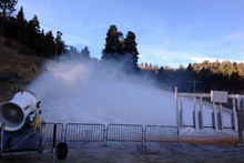 First snowmaking of the season.