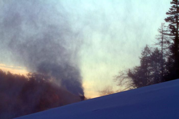 Sunrise snowmaking on Cruiser.