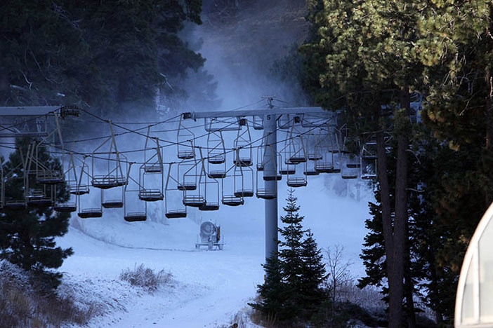 Snowmaking under way getting prepped for a 11.25.2014 opening