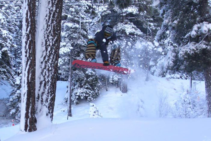 Blasting through the trees in Woodworth Gulch