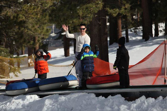 The North Pole Tubing is open for winter fun.