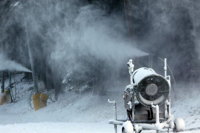 Snowmaking is underway on all major trails at West.