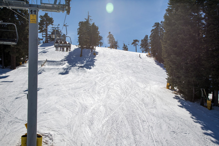 Blue bird skies and cool January temps.  Bring your sunscreen.