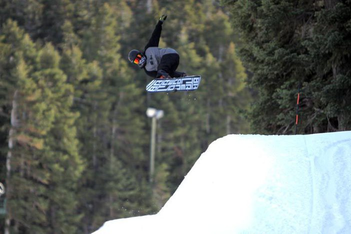 Kyle Lopiccollo sending it over the new hip.