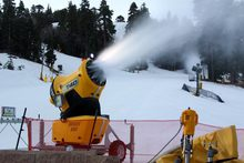 Fresh snowmaking at West.