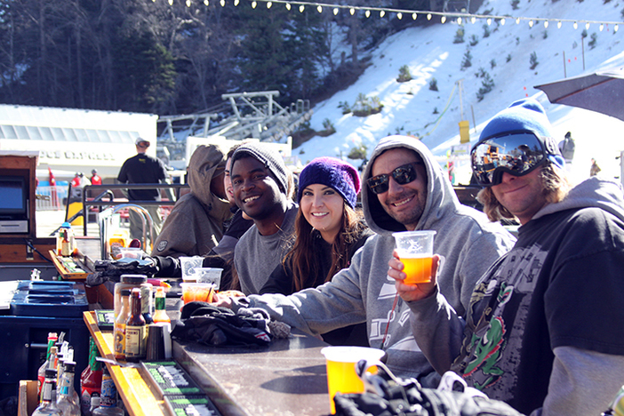 Enjoy a frosty one at the Foggy Goggle.