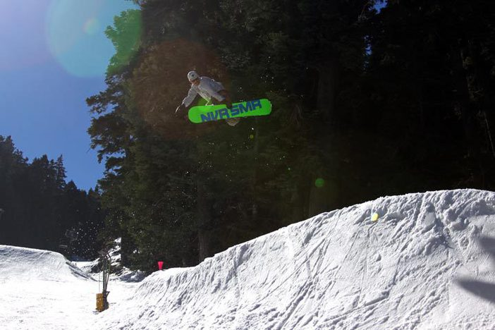 Trever Haas boosting over the hip on lower Chisolm.