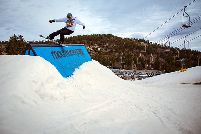 Beautiful boardslide on the Doghouse.