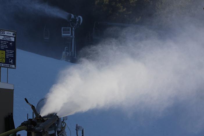 Snowmaking on 8 different runs.
