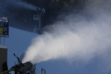Snowmaking on 8 different runs.