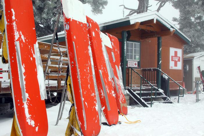 Patrol shack, top of West.
