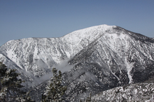 Fresh snow covers Mt Baden Powell to the South West.