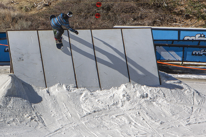 Topping out on the new wallride.