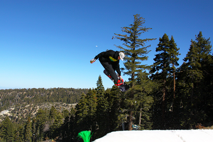 Fun jump line down Lower Chisolm.