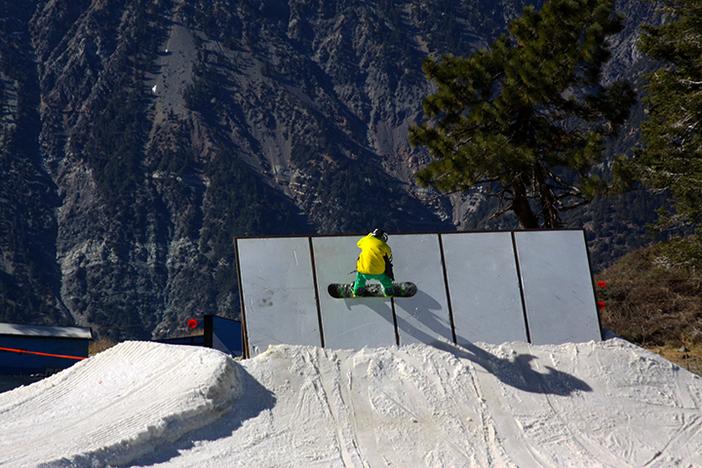 Cruising the wall ride.