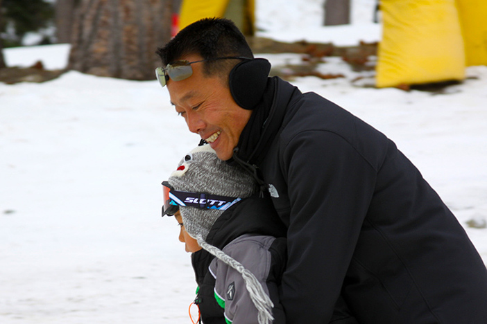 Father & son day on the mountain.