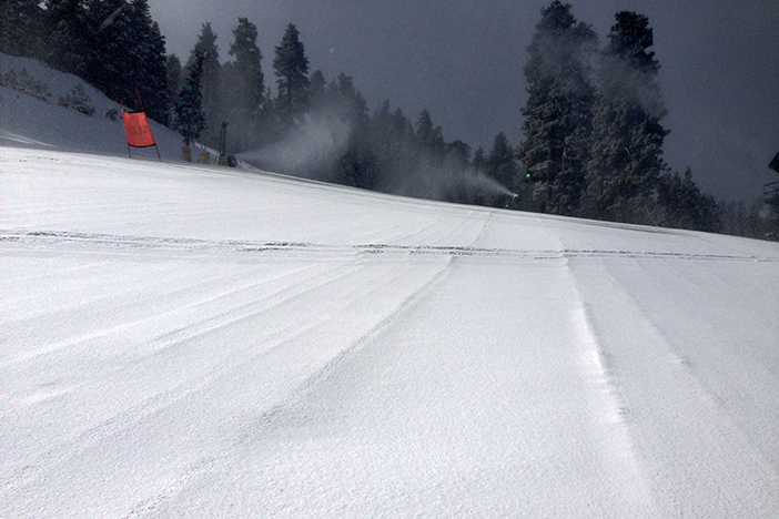 Snow making on all base area runs.