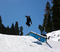 Boosting over the flat down rail on Lower Chisolm.