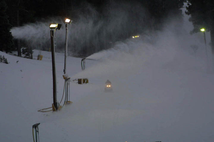 Cold overnight temps have made for great snowmaking.