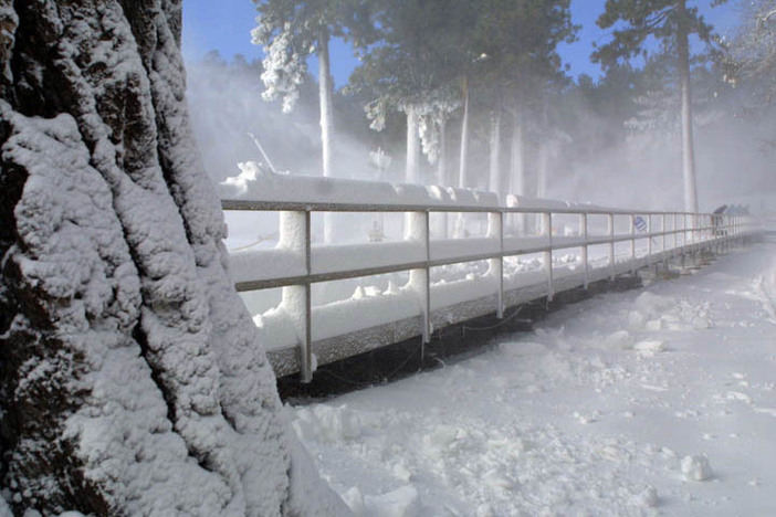 So much snowmaking going on up here at Mountain High!